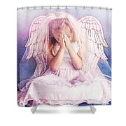 Praying Angel Shower Curtain