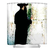 Praying At The Western Wall - Jerusalem Israel Shower Curtain