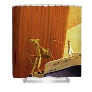 Praying Mantis II Shower Curtain