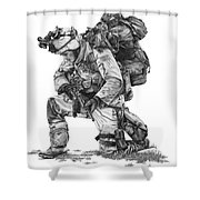 Praying Soldier Shower Curtain