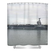 Pre-commissioning Unit Gerald R. Ford Shower Curtain