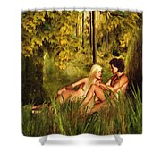 Pre-consciousness Shower Curtain by Lourry Legarde