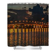 Pre-dawn Causeway View Shower Curtain