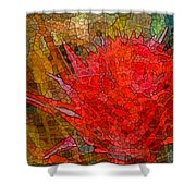 Bloom In Bits Shower Curtain