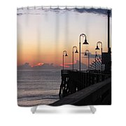 Pre-sunrise On Daytona Beach Pier   Shower Curtain