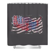 Preamble To The Constitution On Us Map Shower Curtain
