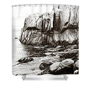 Precarious At Pebble Beach Shower Curtain