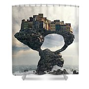 Precarious Shower Curtain by Cynthia Decker