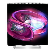 Precious Pearl Abstract Shower Curtain