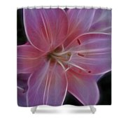 Precious Pink Lily Shower Curtain