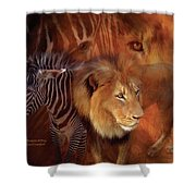 Predator And Prey Shower Curtain