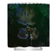 Predator Painting Shower Curtain