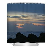 Predawn At The Jetty Shower Curtain