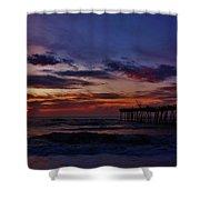 Predawn Avon Pier 2 4/10 Shower Curtain