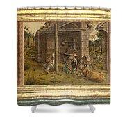 Predella Of La Madonna Della Rondine Shower Curtain