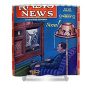 Predicting Television At Home, Radio Shower Curtain