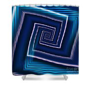 Predominantly Blue Shower Curtain