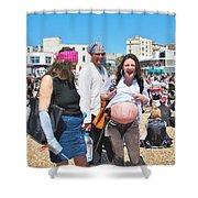 Pregnant Pirate Shower Curtain