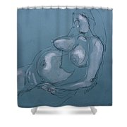 Pregnant Woman II Shower Curtain