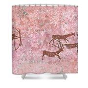 Prehistoric Hunter Shower Curtain