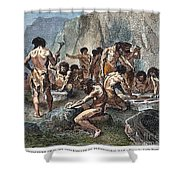 Prehistoric Man: Tools Shower Curtain