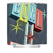 Premiere Lanes Bowling Pop Art Shower Curtain