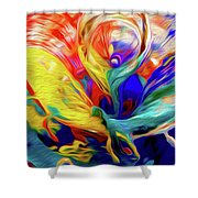 Premorphationism Glass Shower Curtain