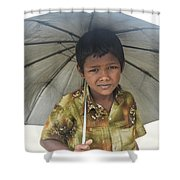 Prepared For Rain Shower Curtain