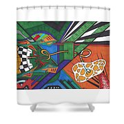 Angry Paincreas Shower Curtain