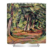 Pres Du Jas De Bouffan Shower Curtain by Paul Cezanne