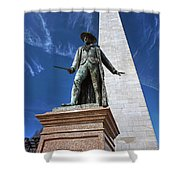 Prescott Statue On Bunker Hill Shower Curtain