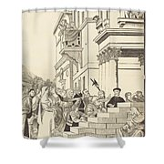 Presentation Of The Virgin In The Temple [center Plate] Shower Curtain