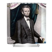 President Abraham Lincoln In Color Shower Curtain