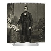 President Abraham Lincoln Shower Curtain by International  Images