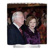 President And Mrs. Jimmy Carter Nobel Celebration Shower Curtain