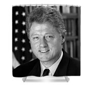 President Bill Clinton Shower Curtain by War Is Hell Store