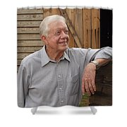 President Carter At His Boyhood Farm Shower Curtain