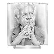 President Carter Shower Curtain