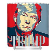 President Donald Trump Hope Poster 2 Shower Curtain
