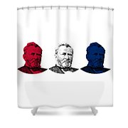 President Grant Red White And Blue Shower Curtain