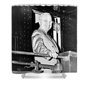 President Harry Truman Shower Curtain by War Is Hell Store