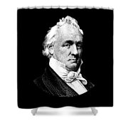President James Buchanan Graphic Shower Curtain