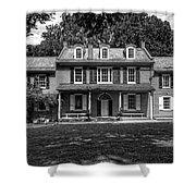 President James Buchanan's Wheatland In Black And White Shower Curtain