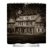 President James Buchanan's Wheatland In Sepia Shower Curtain
