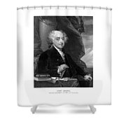 President John Adams - Three Shower Curtain