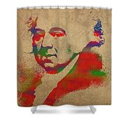 President John Adams Watercolor Portrait Shower Curtain
