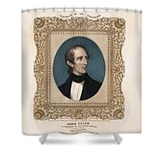 President John Tyler - Vintage Color Portrait Shower Curtain