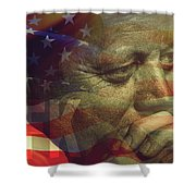 President Kennedy - Digital Art Shower Curtain