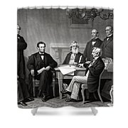 President Lincoln And His Cabinet Shower Curtain