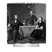 President Lincoln And His Family  Shower Curtain